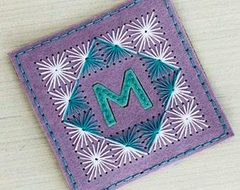 Handmade Coasters, Felt Coasters, Monogram Coasters, Drink Coasters, Wool Felt Coasters