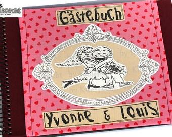 Wedding-gift vintage-style, 1st anniversary, nostalgia gift wedding, photo album wedding-motive, Valentine's day gift, little guestbook,
