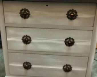 Refinished vintage three-drawer dresser
