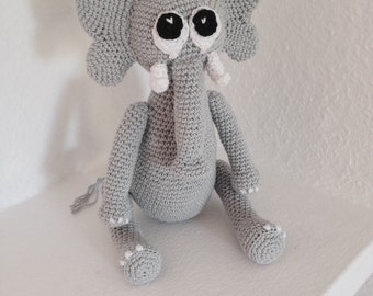 Crochet elephant - made to order  you choose the colours