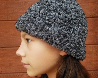 Multi black/grey hat with cuff