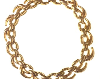 vintage chunky gold link chain