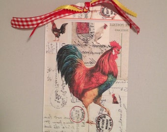 Large Rooster Gift Tag