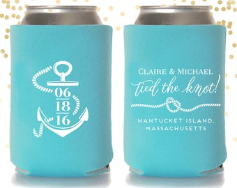 Customized Koozie Favors for Weddings Parties by TheDrinkingBuddy