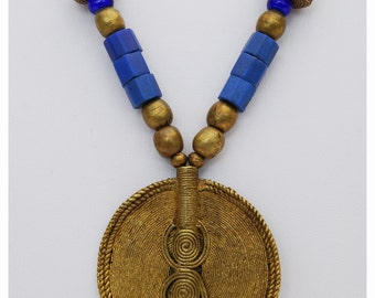 BRONZE ALCHEMY - BRONZE baule beads, Artisan necklace. 20 WaxyDollar