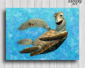 sea turtle print finding dory decor nautical favors turtle art