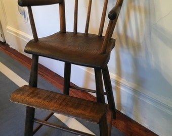 antique wooden heirloom high chair antique high chairs wooden