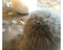 Kawaii fur case ! Rabbit Fur Ball Pom Pom - Universal Phone Case Fur Ball - Pom Pom Dust Plug - Keychain Fur Ball - Bag Pendant Charm