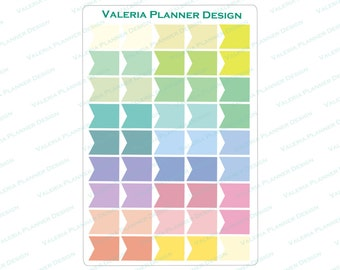 A0038 - Pastel Page Flags Planner Stickers, Colorful Page Flags Stickers, Filofax stickers