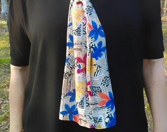 Vintage flowered neckerchief