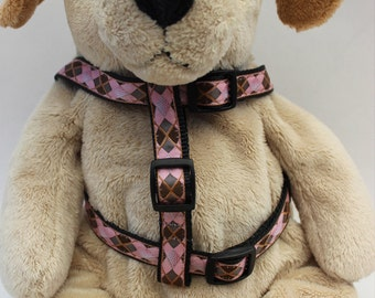 Argyle Step-In Dog Harness