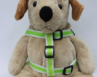 Preppy in Lime Step-In Dog Harness