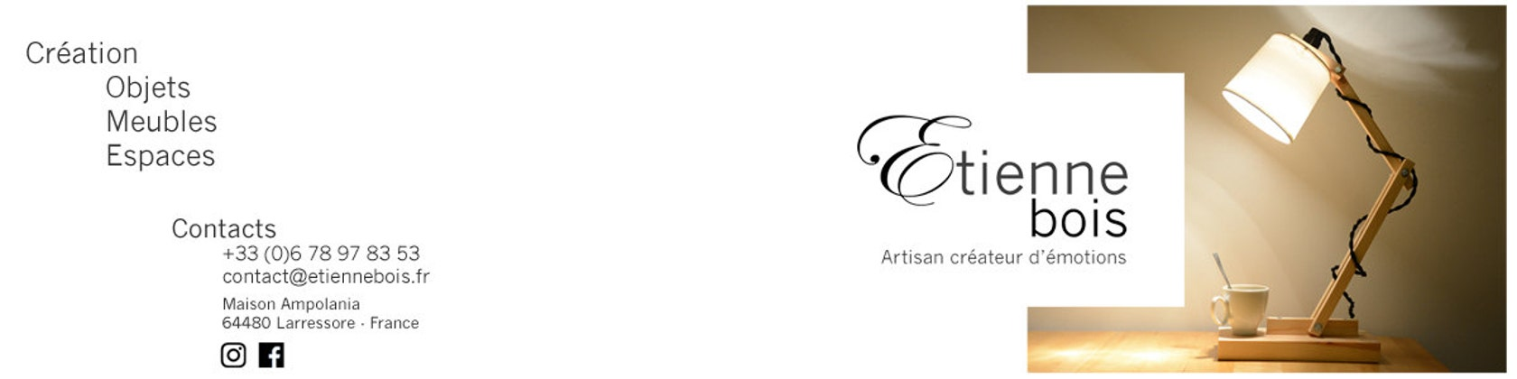 etienne bois design cr ation made in pays basque par etiennebois. Black Bedroom Furniture Sets. Home Design Ideas