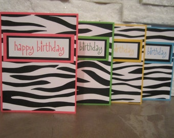 Birthday Card - Zebra Print