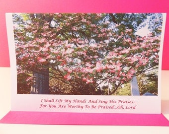 I Shall Lift My Hands And Sing His Praises Handmade Greeting Card