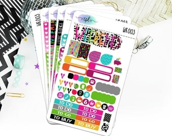 Live Out Loud ECLP Weekly Planner Sticker Kit WK003 // Removable Matte Stickers