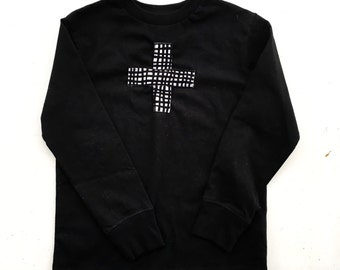 Boys shirt black with embellishments size 4-5 T