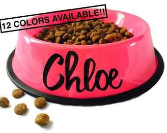 Dog Bowl Personalized - Personalized Pet Bowl - Custom Dog Bowls - Dog Dish - Personalize Dog Bowl - Dog Bowls - Dog Bowl with Name