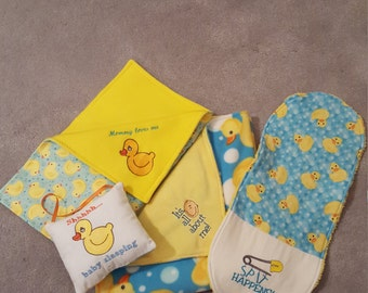 Rubber Ducky Baby Gift Set, Duck Baby Gift, Baby Gift Set, Duck New Baby Gift, Rubber Ducky New Baby, Rubber Ducky, Baby Shower Gift