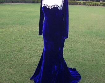 Very nice blue women dress ..... Free Shipping
