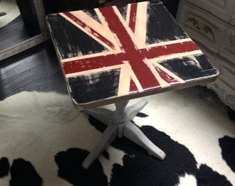 Union Jack table in solid oak