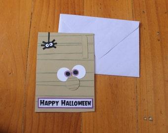 Mummy - Happy Halloween Card
