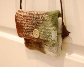 Felted Wool Purse: Mint