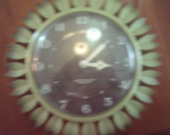 Vintage Westclox Posey Wall Clock