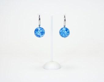 Earrings big blue balls