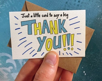 Big Thank You Mini Cards, 10 Pack