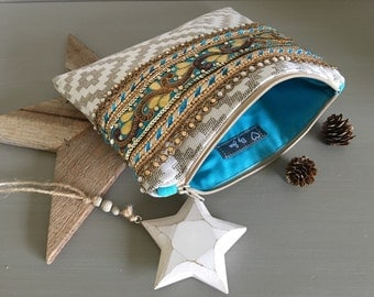 Evening bag was Bohemian Chic - wedding pouch - pouch - pouch boho