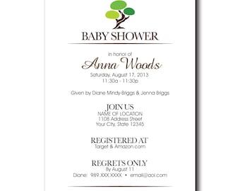 Personalized Baby Shower Custom Invitation
