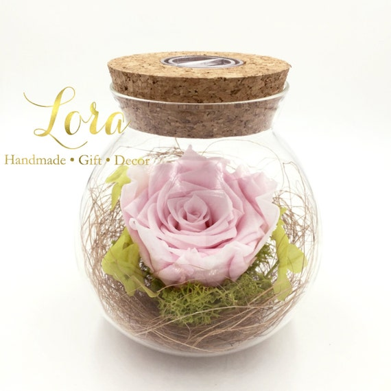 Preserved Rose in SMALL Glass Jar (Customised Rose colour)