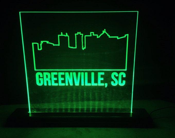 Greenville Skyline LED Sign