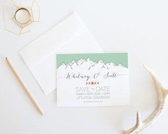 Custom Mountain Save the Date Template