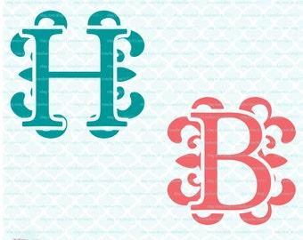 Monogram Initials Svg Monogram svg Royal font svg Regal font svg Monogram dxf initials dxf svg dxf eps jpg for cricut silhouette svg files