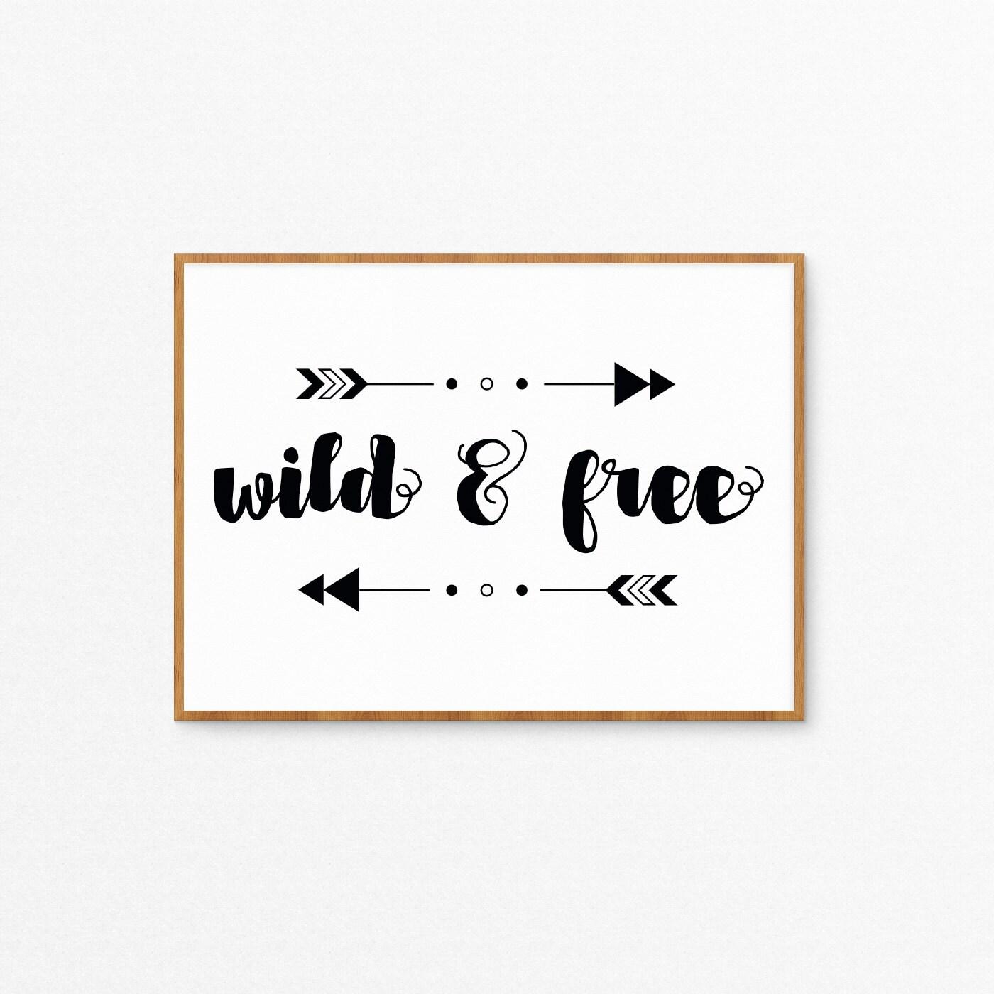printable wild  u0026 free boho arrows art print kids