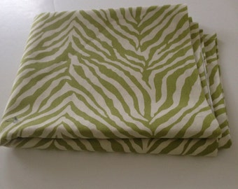 Green Zebra Canvas Fabric
