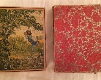 Antique Child's Wooden Jigsaw Puzzle-Antique Madmar Jigsaw Puzzle-c1910