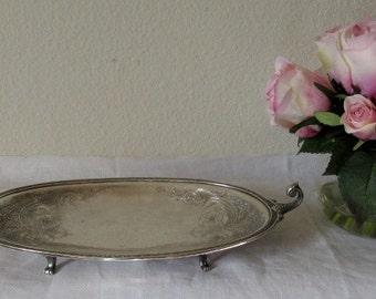 Beautiful Vintage Silver Serving Dish-c1920