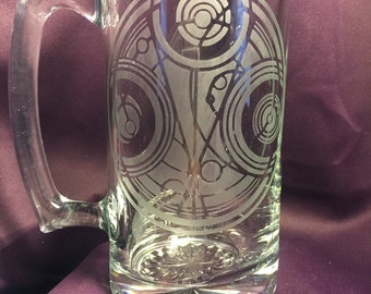 Doctor Who inspired etched beer stein
