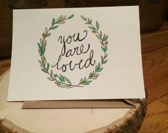 """Positive Paper """"You Are Loved"""" Wreath"""