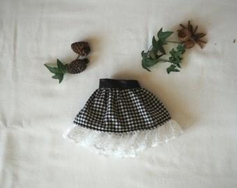 Black and White Plaid Play Skirt