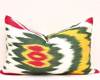 Throw Ikat Pillow Cover - Lumbar Pillow cover - Decorative Pillow Cover - Pillow Cover - Designer Pillow Cover - Ikat Cushion Cover - Pillow