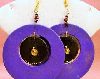 Double Disk Earrings