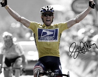 Lance Armstrong signed photo print - 12x8 inch - high quality -