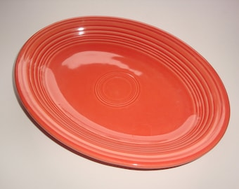 Fiestaware Salmon (Newer) Medium Size Platter by Homer Laughlin