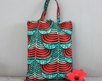 Tote bag, wax fabric bag, beach bag, summer bag - BALI
