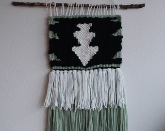 Obsidian Tree Woven Wall Hanging