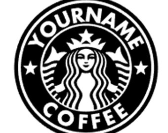 Iron On Starbucks Decal, Starbucks Sticker, DIY Starbucks, Custom Starbucks, Personalized Starbucks Logo, Starbucks Gift
